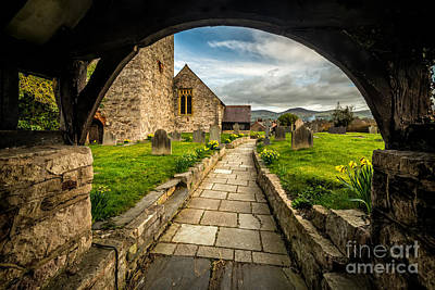 Church Entrance Print by Adrian Evans