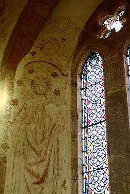 Sutton Photograph - Church Frescoes And Stained Glass Window by Rumyana Whitcher