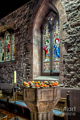 Church Fruits Print by Adrian Evans