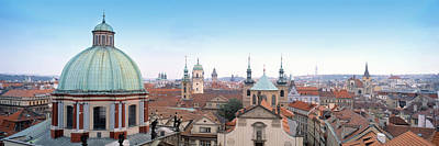 Rooftop Photograph - Church In A City, Prague, Czech Republic by Panoramic Images