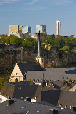 Rooftop Photograph - Church In A City, St. Jean Du Grund by Panoramic Images