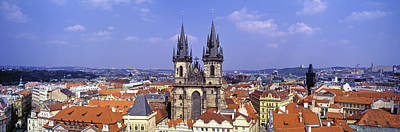 Rooftop Photograph - Church In A City, Tyn Church, Prague by Panoramic Images