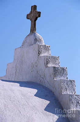Crosses Photograph - Panagia Paraportiani Church In Mykonos by George Atsametakis