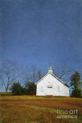 Arkansas Digital Art - Church In The Suburbs Of Eureka Springs  Arkansas by Elena Nosyreva