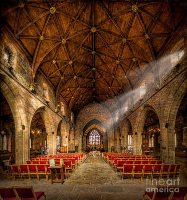 Benches Digital Art - Church Light by Adrian Evans