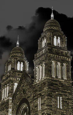 Frederick Mixed Media - Church Lights On St. Peter Cathedral by Optical Playground By MP Ray