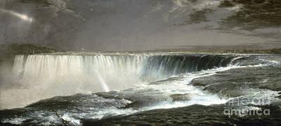 Hudson River School Photograph - Church: Niagara Falls, 1857 by Granger