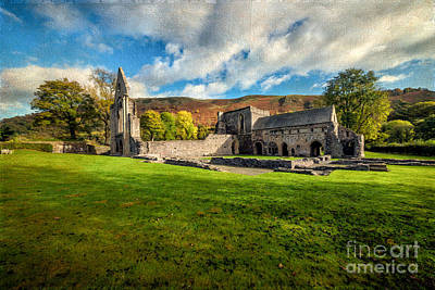Llangollen Digital Art - Church Of The Blessed Virgin Mary by Adrian Evans