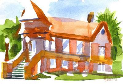 Church On Shepherd Street 4 Print by Kip DeVore