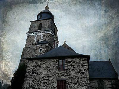 Church Saint Malo Print by Barbara Orenya