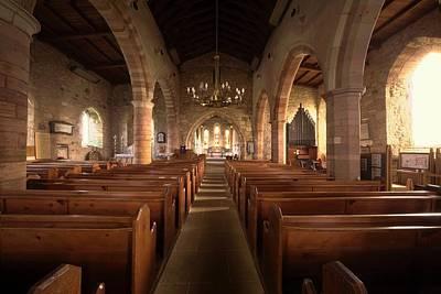 Church Sanctuary, Holy Island, Bewick Print by John Short