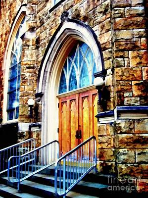 The Main Photograph - Church - Step Right In  by Janine Riley