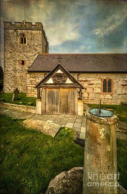 Vale Photograph - Church Sundial 1806 by Adrian Evans