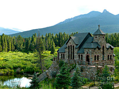 Arbres Verts Photograph - Church With A View by Rachel Gagne