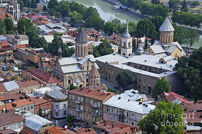 Tbilisi Photograph - Churches By The Mtkvari River In Tbilisi by Robert Preston