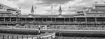 Churchill Downs And Twin Spires  Print by John McGraw