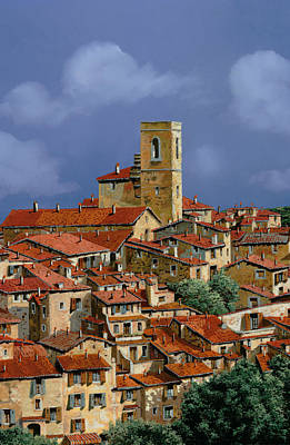 Bells Painting - Cielo A Pecorelle by Guido Borelli