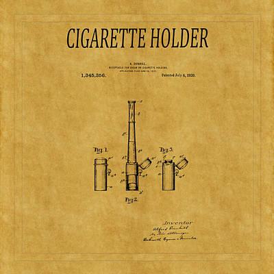 Cigarette Holder Patent 1 Print by Andrew Fare