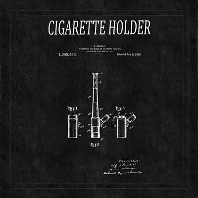Cigarette Holder Patent 2 Print by Andrew Fare