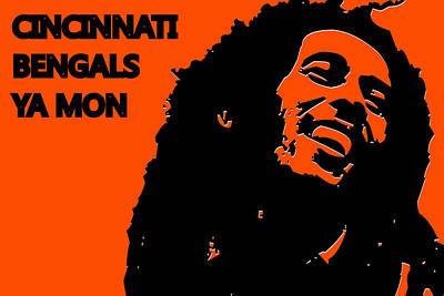 Drum Photograph - Cincinnati Bengals Ya Mon by Joe Hamilton