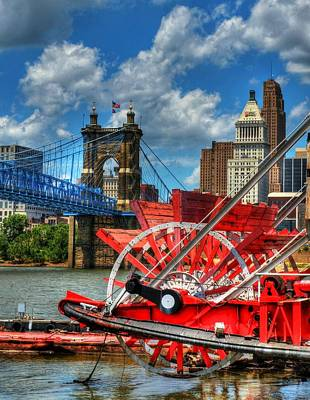 Suspension Photograph - Cincinnati Landmarks 1 by Mel Steinhauer