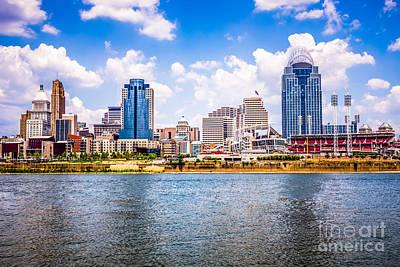 Ohio River Landscapes Photograph - Cincinnati Skyline Photo by Paul Velgos