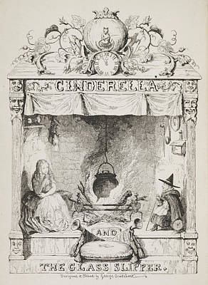 Cinderella And The Glass Slipper Print by British Library