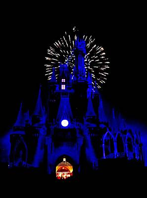 Magic Kingdom Photograph - Cinderella Castle Fireworks by Benjamin Yeager