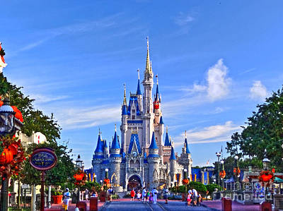 Magic Kingdom Photograph - Cinderella Castle by Phil Pantano