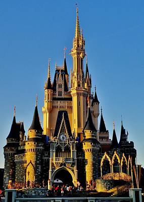 Magic Kingdom Photograph - Cinderella Castle Sunset by Benjamin Yeager