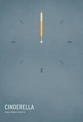 Minimal Digital Art - Cinderella by Christian Jackson