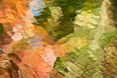 Cinnamon And Spice Mosaic Abstract Print by Christina Rollo