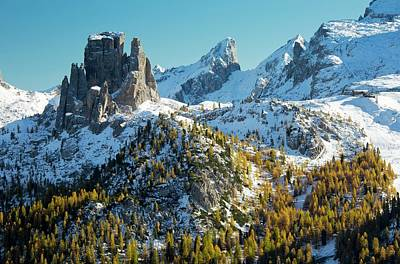 Dolomite Photograph - Cinque Torri And Torre Grande by Bob Gibbons