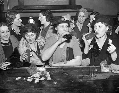 Labor Union Photograph - C.i.o. Victory Party by Underwood Archives