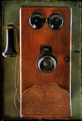 Antique Telephone Photograph - Circa 1920's Antique Wall Phone by Donna Kennedy
