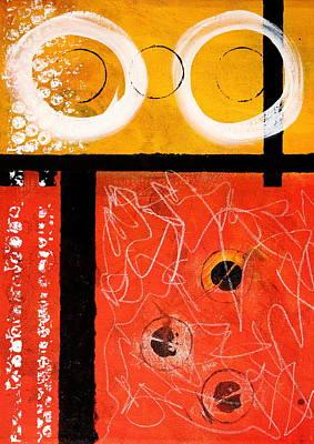 Circle Gold Abstract Print by Nancy Merkle