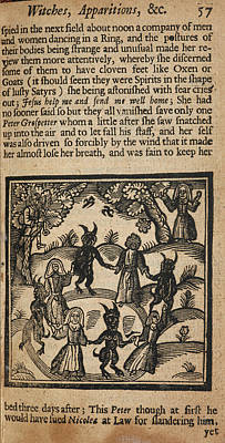 Circle Of Humans And Demons Print by British Library