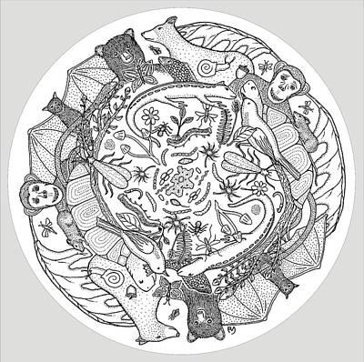Salamanders Drawing - Circle Of Life by Rob Messick