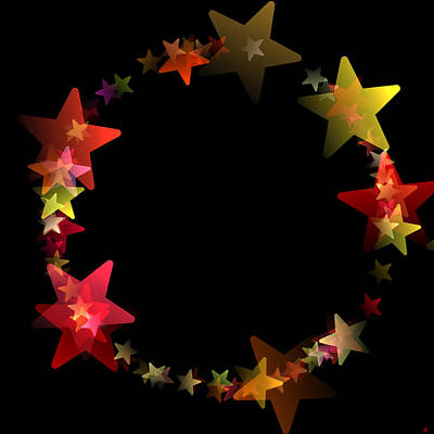 Zodiac Digital Art - Circle Of Stars by Daniel Hagerman