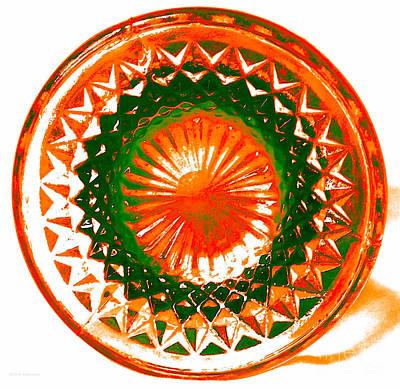 Circle Orange Print by Anita Lewis