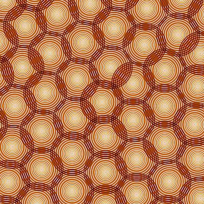 Regular Painting - Circles Abstract by Frank Tschakert