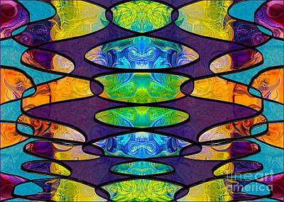 Digital Art - Circles And Chakras Abstract Creativity Artwork By Omaste Witkow by Omaste Witkowski