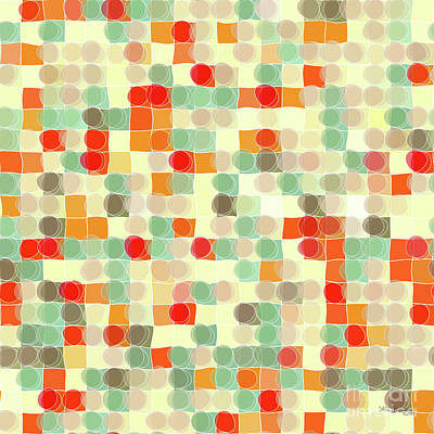 Red Cube Painting - Circles And Squares 12. Modern Decor Collection by Mark Lawrence