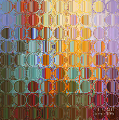 Limited Edition Painting - Circles And Squares 35. Modern Abstract Fine Art by Mark Lawrence