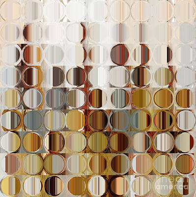 Beige Glass Painting - Circles And Squares 36. Modern Abstract Fine Art by Mark Lawrence