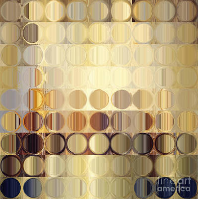 Earthtone Painting - Circles And Squares 37. Modern Abstract Fine Art by Mark Lawrence