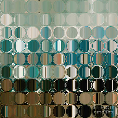 Limited Edition Painting - Circles And Squares 38 by Mark Lawrence