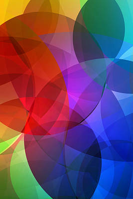 Abstract Shapes Mixed Media - Circles In Colorful Abstract by Design Turnpike