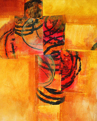 Deconstructed Painting - Circles Squared by Nancy Merkle