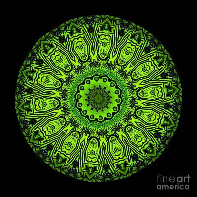Kaleidoscope Digital Art - Circuit Board Kaleidoscope by Amy Cicconi